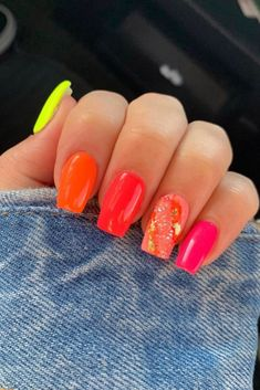 Stylish Nails, Trendy Nails, Cute Nails, Pretty Gel Nails, Color For Nails, Summer Nail Colors, Bright Nails For Summer, Bright Gel Nails, Best Toe Nail Color