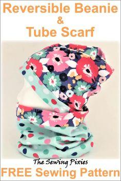 Hat Patterns To Sew, Sewing Patterns Free, Free Sewing, Free Pattern, Fleece Hat Pattern, Snood Pattern, Slouchy Beanie Pattern, Slouchy Beanie Hats, Hand Sewing