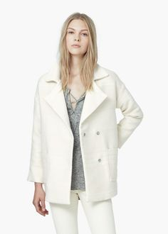 Jacquard cotton coat -  Women   MANGO
