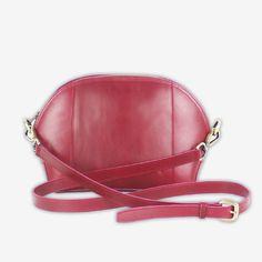 Cerniera Shoulder Bag in Dark Pink - Ni QUA - Leather Bag Manufacturer Online Store Manila Philippines Custom Bags, Saddle Bags, Leather Bag, Monogram, Shoulder Bag, Dark, Accessories, Shoulder Bags, Monograms