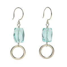 Big Stone Earrings ~ Chunky nuggets aren't just for necklaces and bracelets. When used sparingly, they make striking focal points in earrings. Simple designs work best. Accented with a bit of chain or a single jump ring, these rocks won't weigh you down