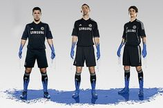 Blues in black: Eden Hazard, Gary Cahill and Oscar at the launch of Chelsea's third kit for the new campaign