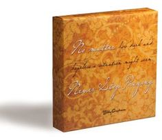 Legacy of Hope Collection: Billy Graham Quote Canvas-Wrapped Block Art - $24.99