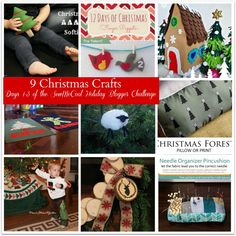 Here are the first 9 holiday projects to craft or sew as part of the 12 Days of Christmas holiday blogger tour with SewMcCool! Join us to vote on Dec. 13.