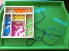Tray Work for fine motor, some for eldery patients with sweeping practice exercises for ADL's
