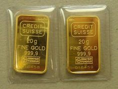 Lot of 20 gram Credit Suisse Gold Bullion Bars Gold Bullion Bars, Bullion Coins, I Love Gold, Credit Suisse, Gold Reserve, Gold Money, Gold Rush, Mint Gold, Silver Coins