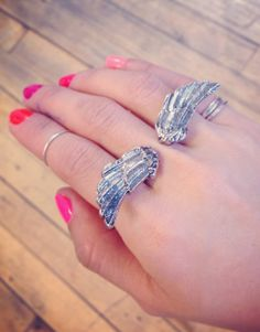 #Angel #Wings #Ring <3 *Click Image to find item*. reminds me of the angel's ring on The Bible series