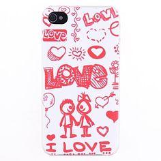 Love You cassa posteriore del modello per il iPhone 4/4s – EUR € 3.67