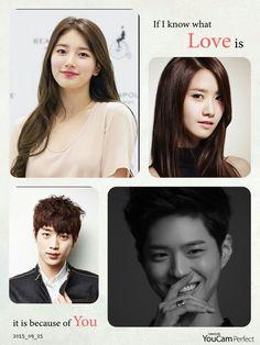 Song Hyun Rim, Hwa My Lia, Lee Sang Wook, and Kim Soo Ri (Park Bo Gum, Bae Suzy, Seo Kang Joon, and Im  Yoona)