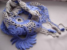 irish lace style scarf made in Russia (on etsy)