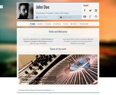 Voxr Responsive #WordPress vCard Theme http://www.themesandmods.com/premium-wordpress-themes/voxr/