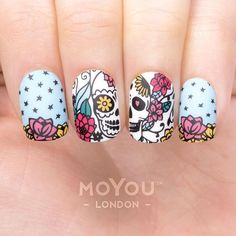Meet Maria! MoYou-London's Mexico Nail Art Collection is all about Aztec-inspired patterns, Day of the Dead skulls, fiery fiesta flowers, Talavera tile designs, and more. Viva México! ● MoYou-London Mexico 01 includes 18 different designs, each measuring 1.2 x 1.5cm. ● The stainless steel plate measures 6.5 x 12.5cm and have a vinyl backing for increased ease of use. ● Each plate comes in its own branded protective sleeve. ● The designs are engraved on to the image plate and covered with ...