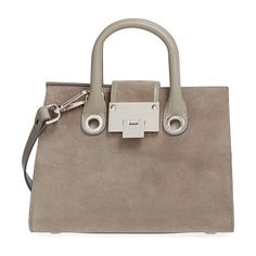 JIMMY CHOO Small riley suede crossbody bag found on Nudevotion