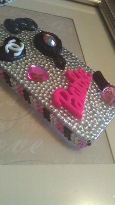 Girly Barbie Theme Cell Phone Bling Case by babykakeskreations
