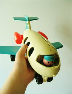 Fisher Price Airplane Collectible ~ we had this.hand me down fisher price from the neighbours kids Jouets Fisher Price, Fisher Price Toys, Vintage Fisher Price, Toy Art, Childhood Toys, Childhood Memories, Brinquedos Fisher Price, Electronic Toys, Oldies But Goodies
