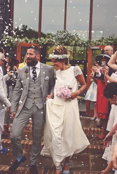 A Laure de Sagazan Bride and her Laid Back and Boho Luxe Barn Wedding | Love My Dress® UK Wedding Blog