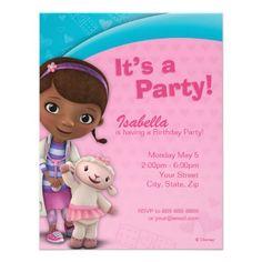 Doc McStuffins Birthday Invitation Personalized Invitation