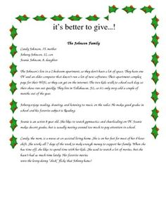 It's Better to Give... Christmas Charity Shopping Activity