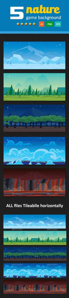 5 Nature Game Background Download here: https://graphicriver.net/item/5-nature-game-background/17640199?ref=KlitVogli