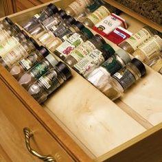 Kitchen Drawer Spice Organizers Organize your kitchen counters and drawers by using this spice spice drawer insert 10w birch s9510dnl1 spice drawerkitchen organizersbirchesbuilding workwithnaturefo