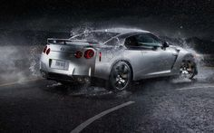 Nissan in The Rain Widescreen Background | HD Wallpapers  Nissan in The Rain Widescreen Background  To free download this hd wallpaper click here  http://hdwallpaperx.com/nissan-in-the-rain-widescreen-background/