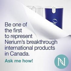 Nerium International has rocked the industry with scientifically proven anti-aging products and is revealing a global product line. Contact me today to reserve your spot. Simply go to www.jadylan.nerium.com and click on the Canadian Flag. or call me at 856.516.0577