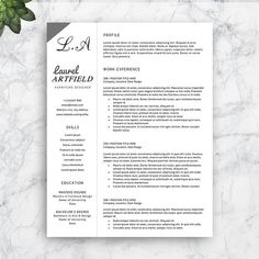 Resume Template For Pages Professional Cv Template For Word And Pages  Creative Cv Design