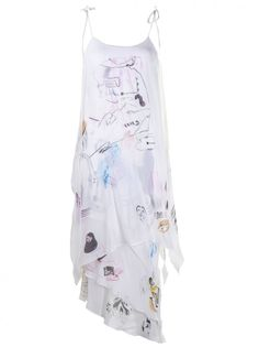 CLAIRE BARROW - Graphic Dress - CBSS1638 WHITE MULTI - H. Lorenzo