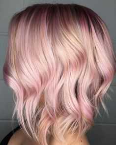 She requested a rosey blonde and I gave her just that using @joicointensity pink shades!