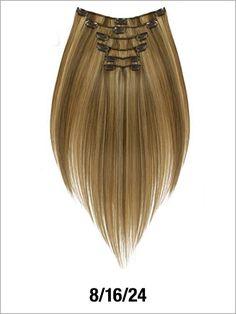 """Evita Six Piece"" Straight - 18"" Human Hair Clip-In Sets (75g)"