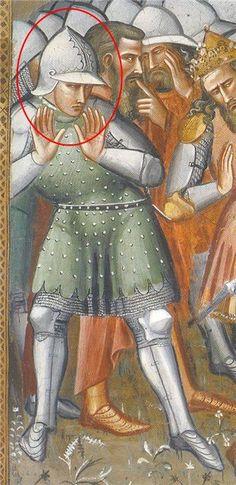 Spinello Aretino - Storie di San Benedetto: S. Benedetto smaschera Totila, dettaglio - 1387 - affresco - Sagrestia, Basilica di San Miniato al Monte, Firenze
