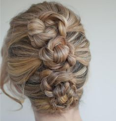 101 Braid Hairstyles You Need to Know | Beauty High Why not try a triple-knotted style for instant cool? Three braids twisted upon themselves and secured is what makes this intricate looking style so easy. Read more: http://beautyhigh.com/braid-hairstyles/#ixzz3CwR6MQDN
