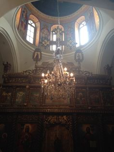 Inside the Monastery at the top of the Mount of Temptation