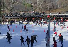 Skating on Wollman Rink is a winter tradition in New York. Many people have tied up their skates for the very first time on this ice.