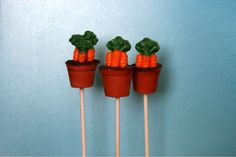 Carrots for the Easter Bunny Cake Pops