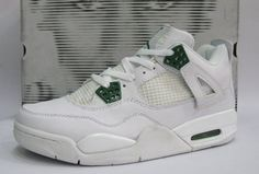 sports shoes 96ca4 5166f Air Jordan 4 Retro White Chrome Classic Green
