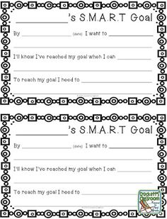 Freebie!  goals setting for kids.
