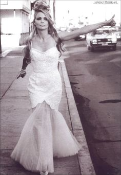 Michelle Pfeiffer - hitchhiking in a wedding gown