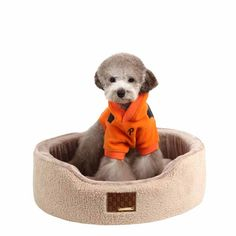 Suave Dog Bed by Puppia - Beige - https://barkavenuebycucciolini.ca/product/suave-dog-bed-by-puppia-beige/