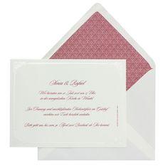 Klassische, edle Hochzeitseinladungen