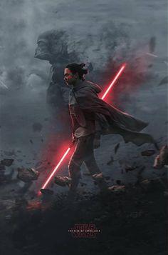 Star Wars: Episode IX - The Rise of Skywalker x Star Wars Sith, Star Wars Kylo Ren, Star Wars Fan Art, Rey Cosplay, Images Star Wars, Star Wars Pictures, Star Wars Characters, Star Wars Episodes, Star Wars Brasil