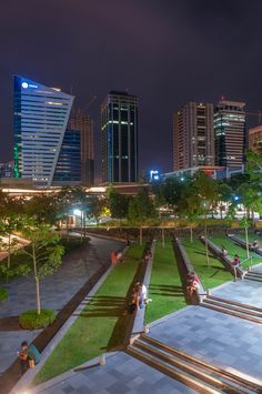 //Bonifacio Global City is a financial district in Metro Manila, Philippines. It is located 11 km mi) south-east of the center of Manila in Taguig Urban Landscape, Landscape Design, Rizal Park, Manila Philippines, City Aesthetic, Scenery Wallpaper, Shenzhen, City Streets, Capital City