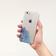 Henna Mandala iPhone 6 case Boho iPhone Cover Blue by LovinaCases