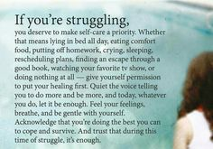 We all need to take time to self care...we can't judge ourselves for wanting healing!