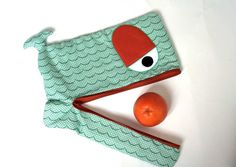 Items similar to Wavy Whale laptop sleeve, lightly padded, 15 inch, jade green and orange , LAST PIECE !- ready to ship on Etsy Jade Green, Green And Orange, Shops, Ipad Sleeve, Esty, Couture, Laptop Sleeves, Purses And Bags, Coin Purse