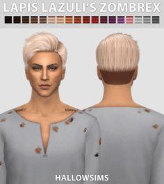 Lapiz Lazuli's Zombrex Male Hair for The Sims 4