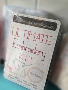 The Ultimate Embroidery Kit by Sublime Stitching. Available at Ugly Baby and La Ru in Seattle, WA.