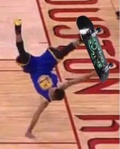 Steph Curry skateboard trick