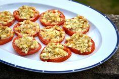 Жареные помидоры с сыром фета