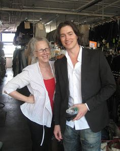 "2009: Tom Wisdom, in for a fitting with early 20th century clothes for  ""The Lightkeepers"", filmed in Nantucket. (pictured with Helen)"